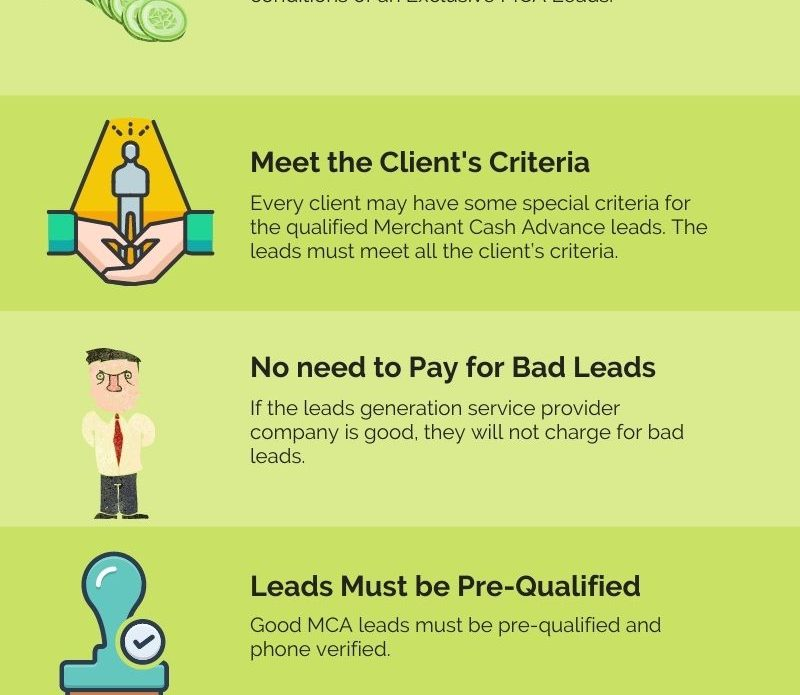 MCA Leads Gateway - Checklist of Qualified MCA Leads