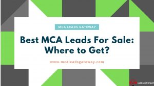 Best MCA Leads For Sale